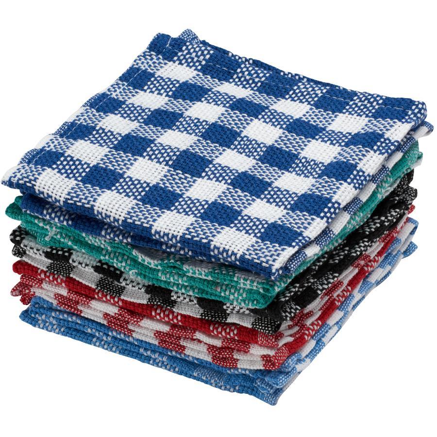 "Basix 10 Pack 14"" x 14"" Dish Cloths, Assorted Colours"