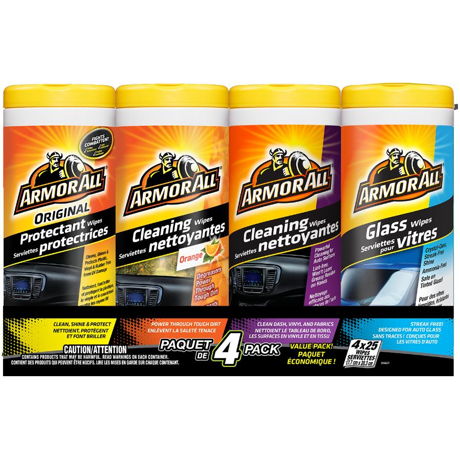 Armor All 4 Piece Value Pack Cleaning Car Wipes