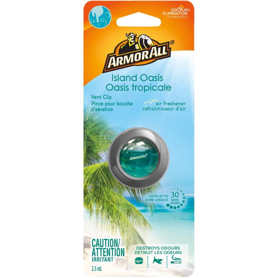 Armor All Island Oasis Fragrance Automotive Vent Clip Air Freshener
