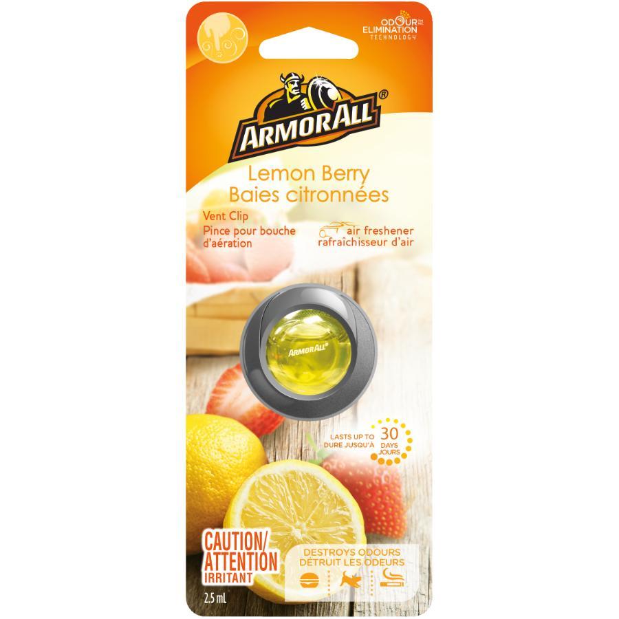 Armor All Lemon Berry Fragrance Automotive Vent Clip Air Freshener